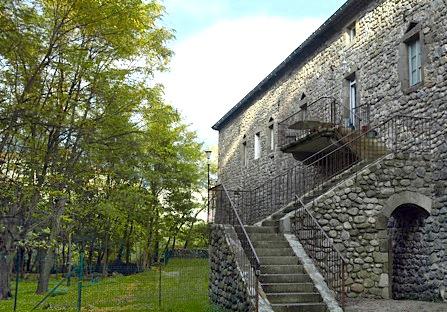Escalier et balcon du gîte 1